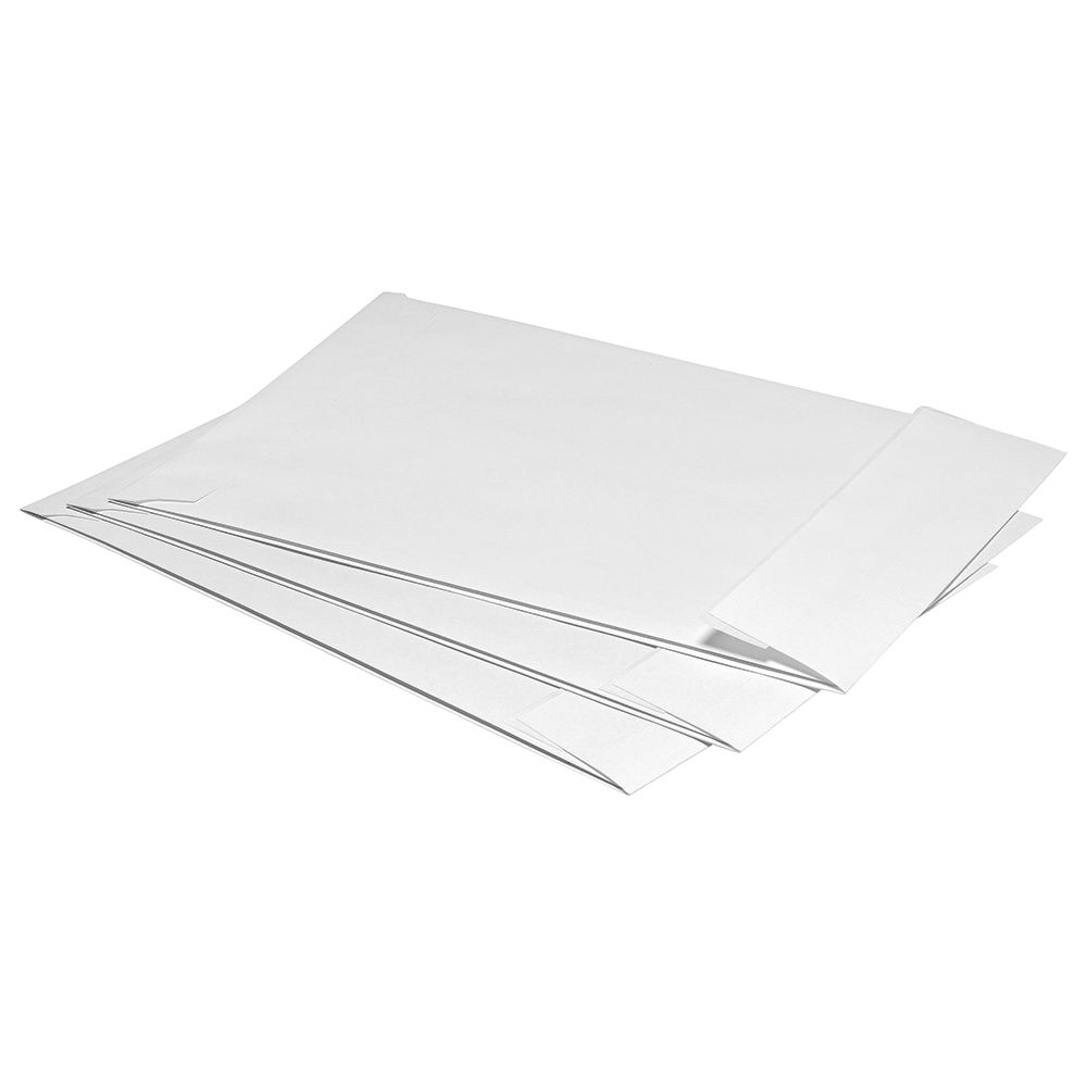 Business Office Envelopes C4 Gusset 25mm Peel and Seal 120gsm White Pack 125