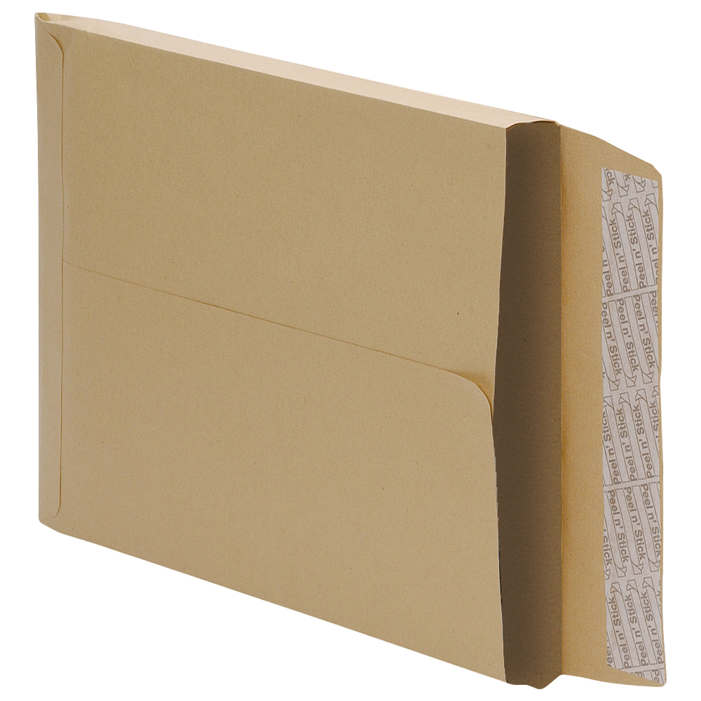 Business Gusset Envelopes 381 x 254mm 25mm 115gsm Peel and Seal Manilla (Pack of 125)