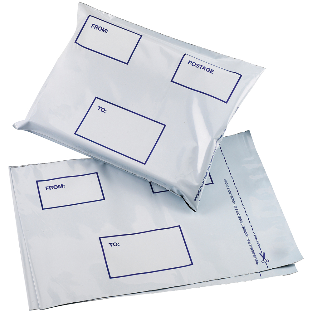 Business Premium DX Waterproof Bags 475 x 440mm White (Pack of 100)
