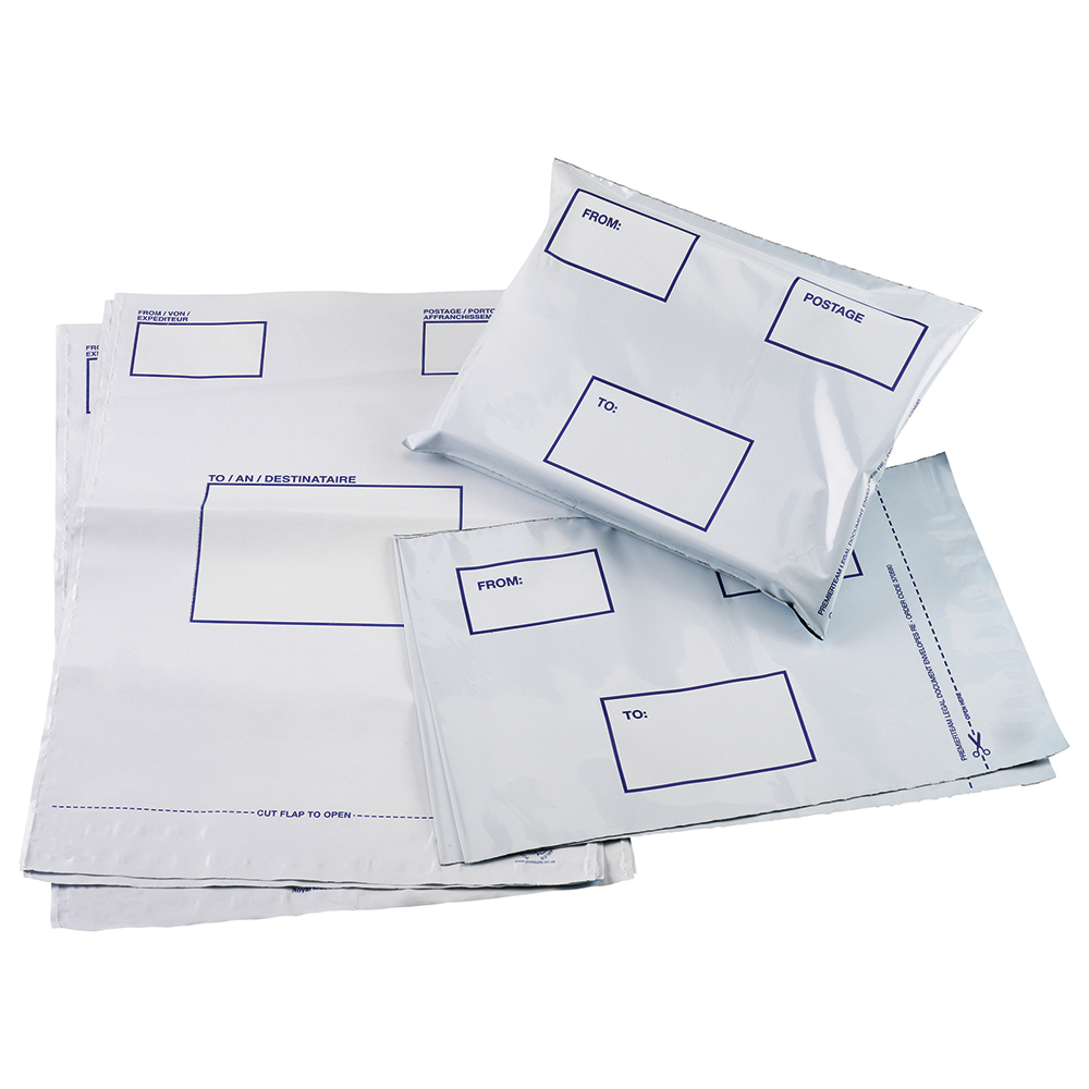 Business Premium DX Waterproof Bags 455 x 330mm White (Pack of 100)