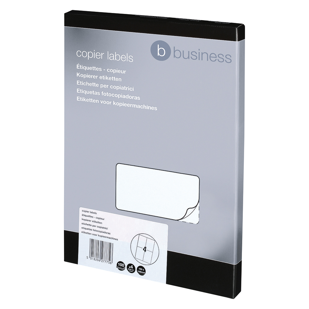 Business Multipurpose Laser Labels 105 x148.5mm 4 Per Sheet White (Pack of 400 Labels)