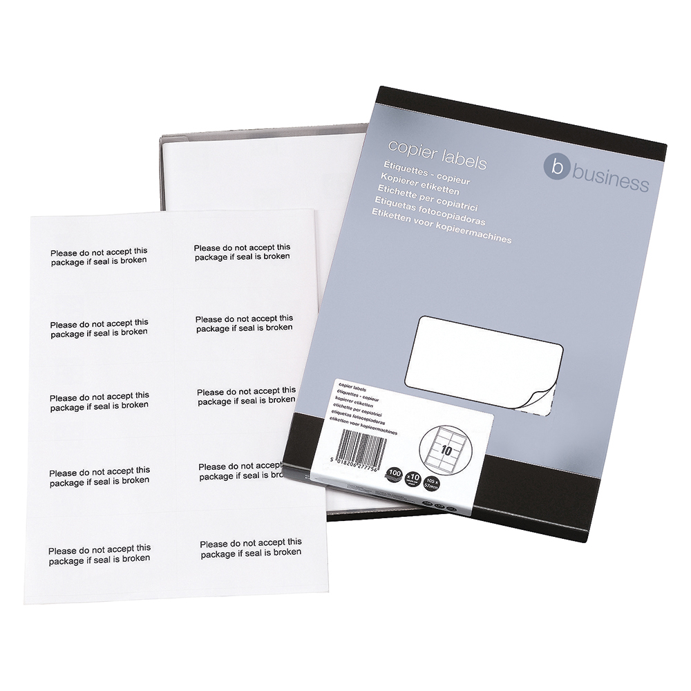 Business White Multipurpose 105x58mm Laser Labels Pack of 1000