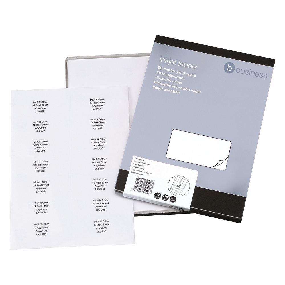 Business White Address 99.1x38.1mm Inkjet Labels Pack of 1400