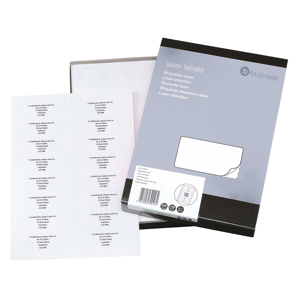 Business White Multipurpose 99.1x34mm Laser Labels Pack of 4000