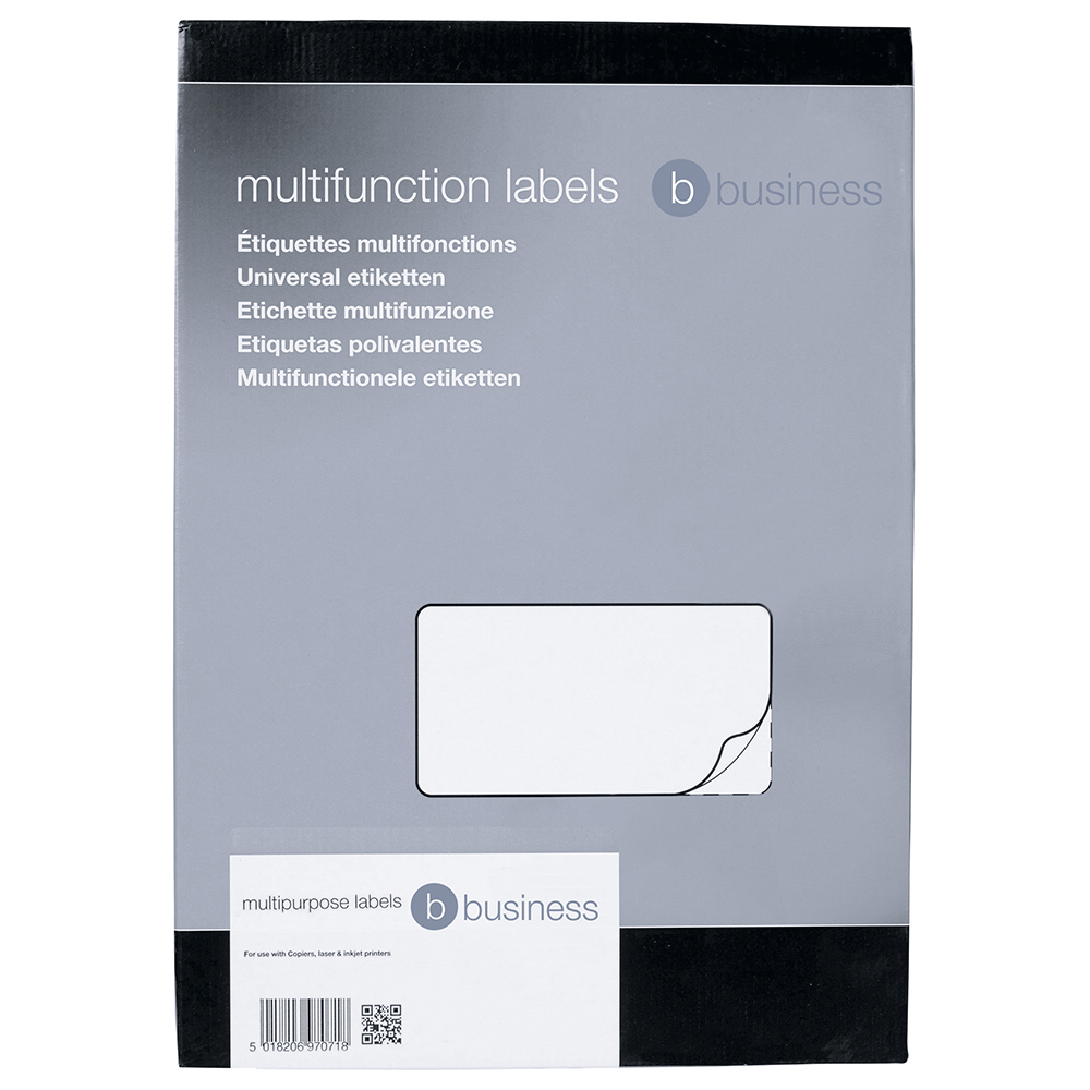 Business Office Multipurpose Labels Laser Copier Inkjet 6 per Sheet 99x93mm White 600 Labels