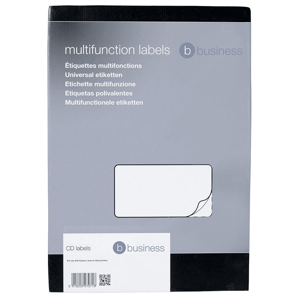 Business CD Laser / Inkjet Labels 117mm Diameter 2 Per Sheet (200 Labels)