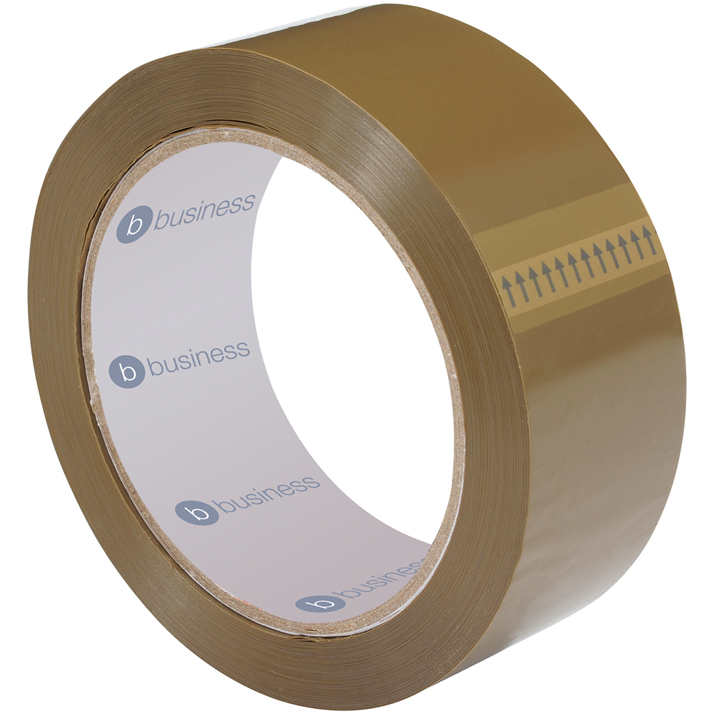 Business Packaging Tape Polypropylene 38mm x 66m Buff (Pack of 6)