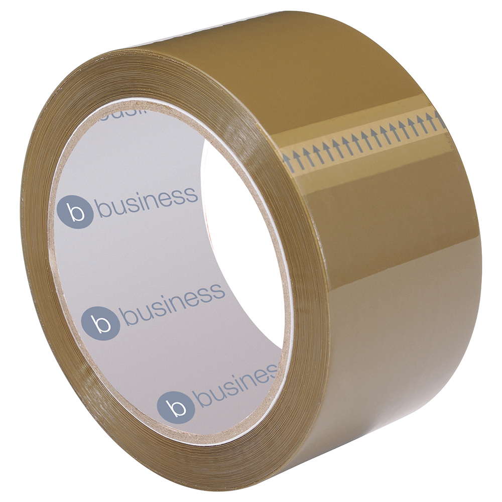 Business Packaging Tape Polypropylene 50mm x 66m Buff (Pack of 1)