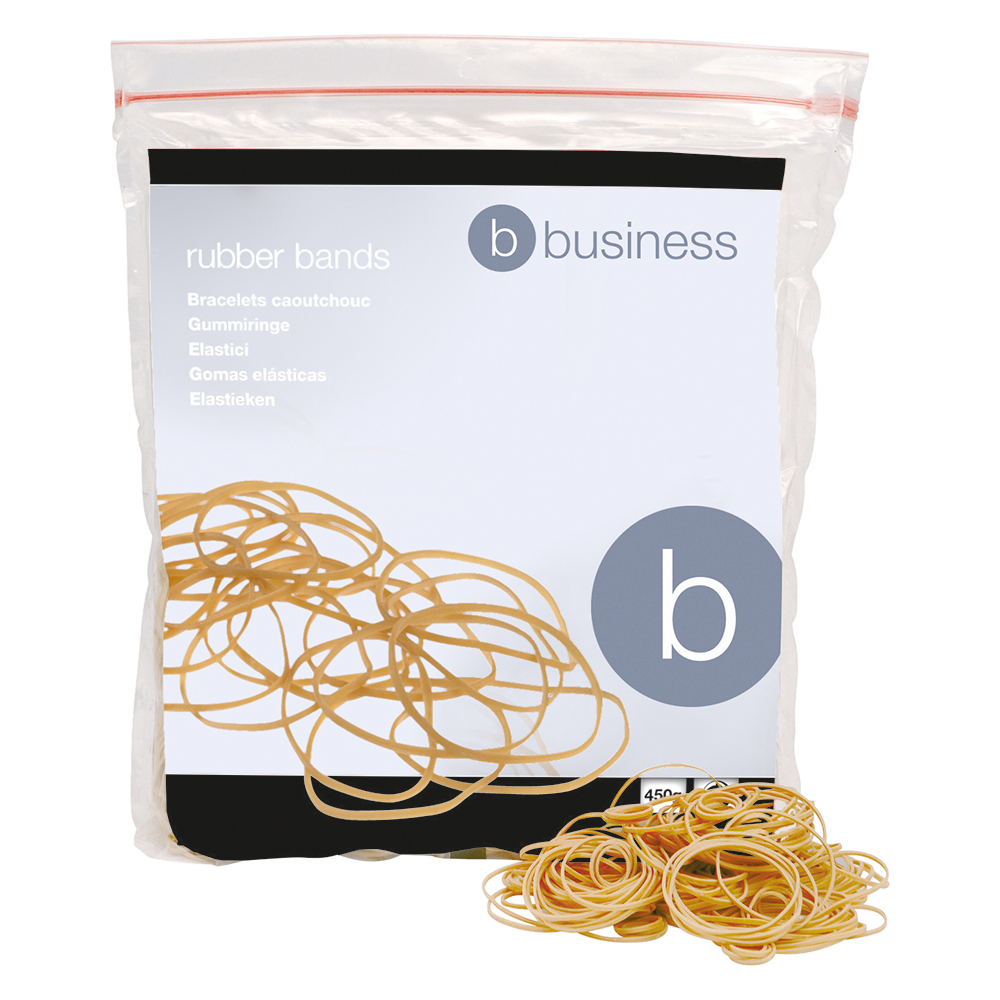 Business Office Rubber Bands No.16 Each 63x1.5mm Approx 2000 Bands Bag 0.454kg
