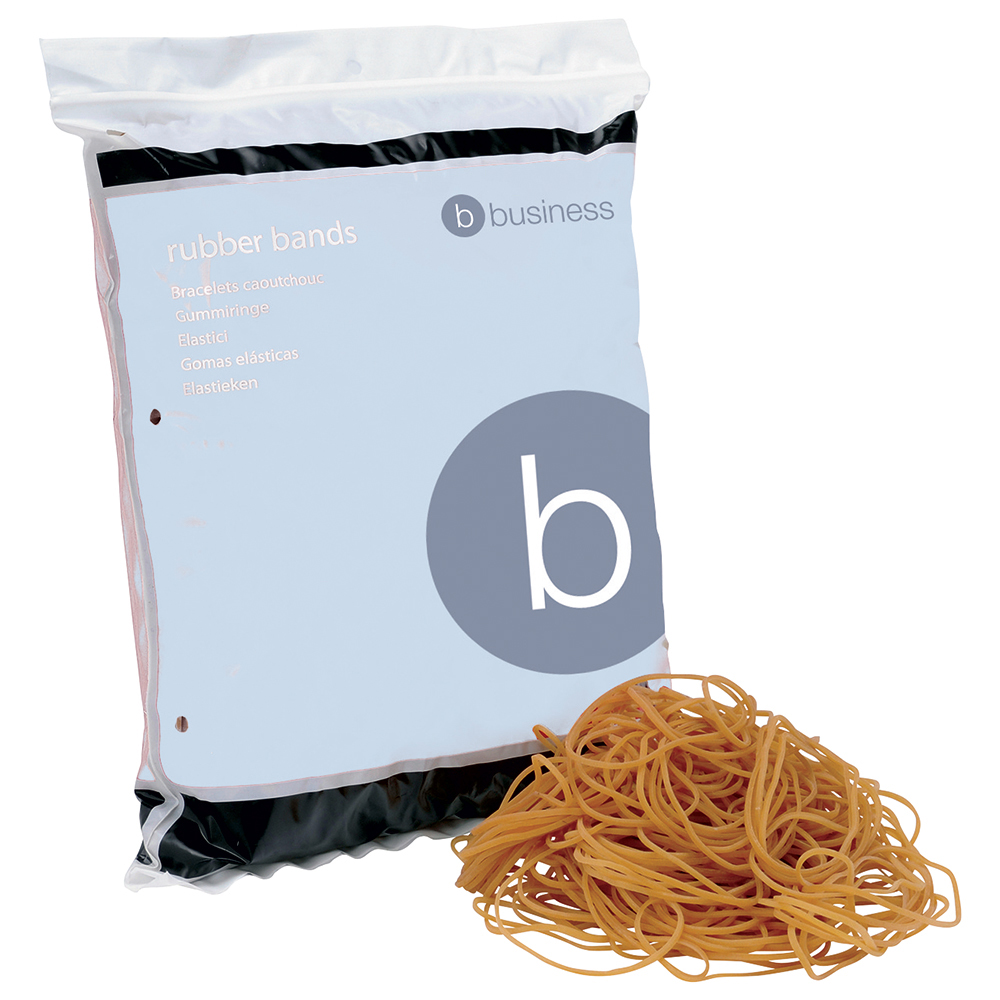 Business Rubber Bands No 18 76 x 1.5mm 454g (Approx 1600 Bands)