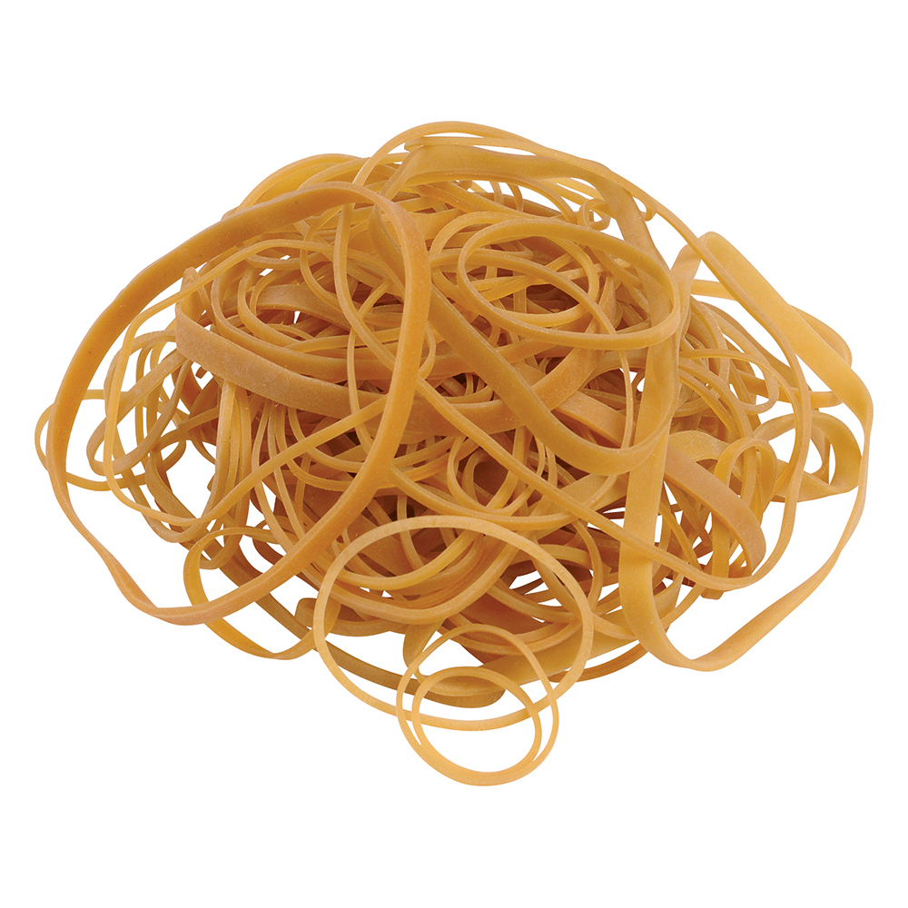 Business Office Rubber Bands Assorted Sizes Bag 0.454kg