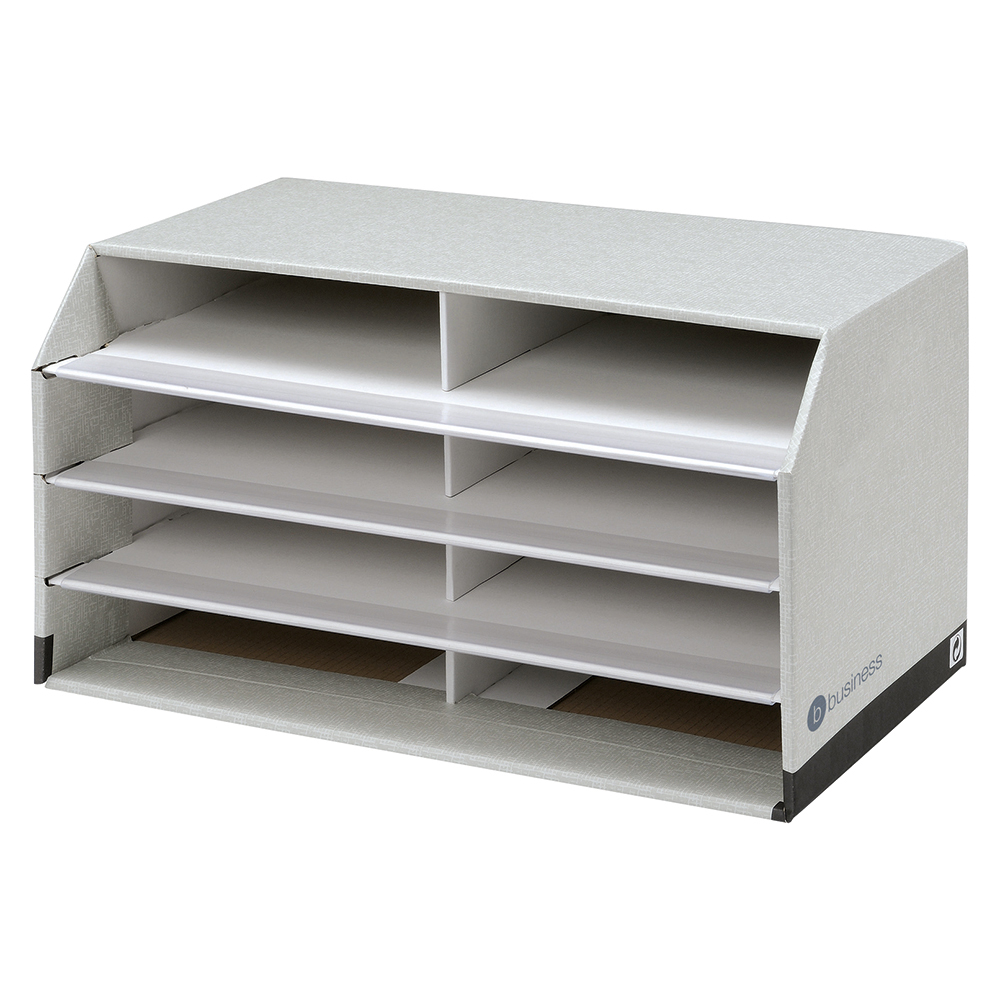 Business Document Sorter 8 Compartment Grey (Pack of 1)