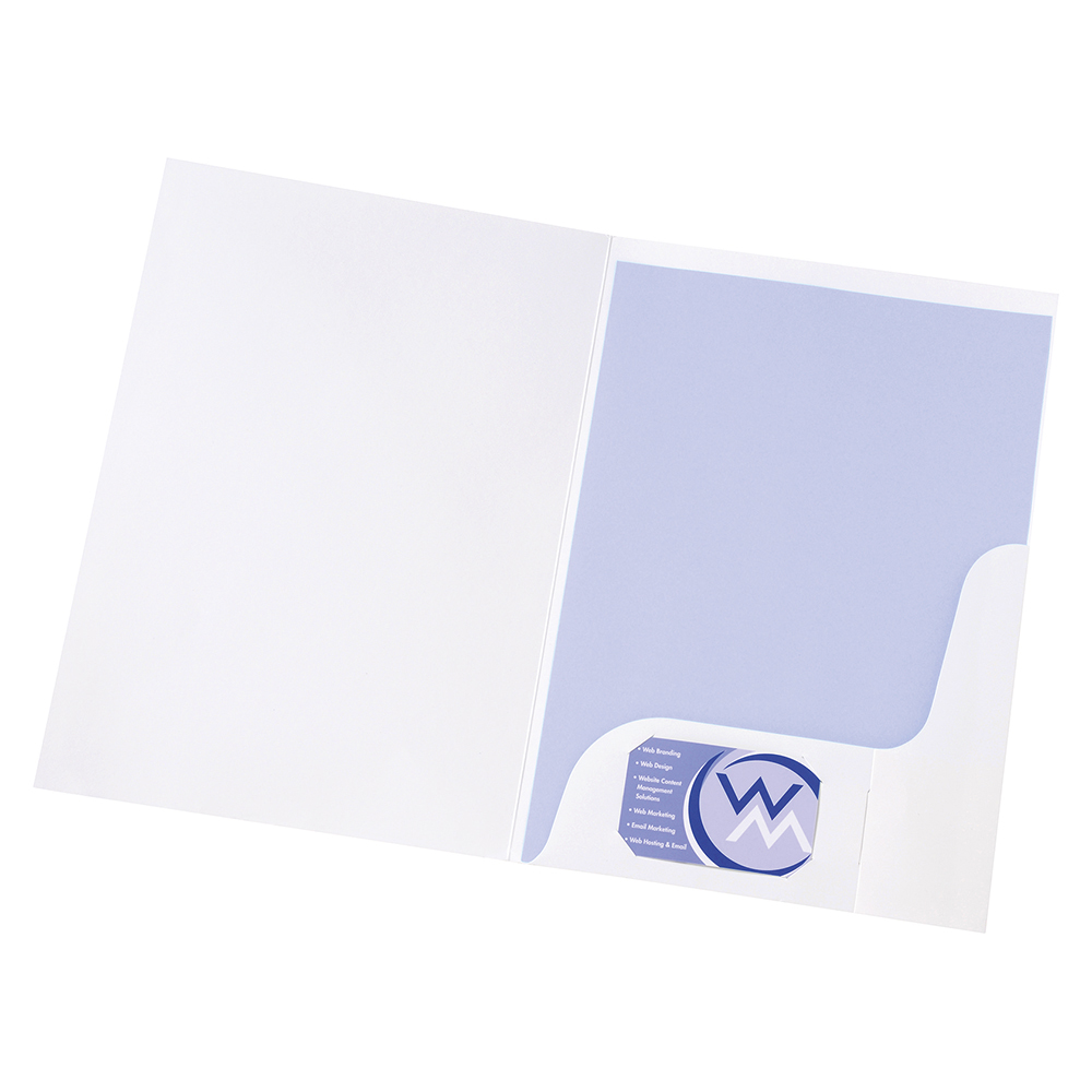 Business Corporate Presentation Folders A4 Gloss White (Pack of 50)
