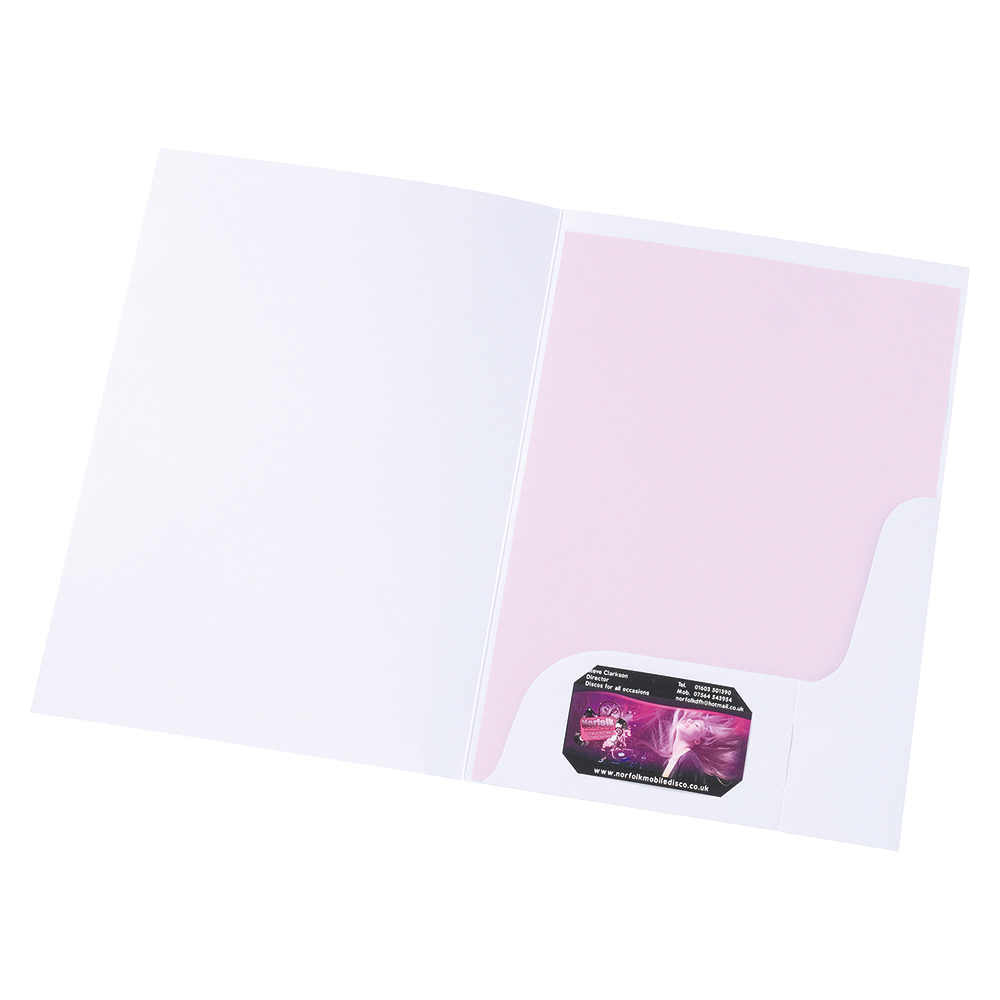 Business Corporate Presentation Folders A4 Matt White (Pack of 50)