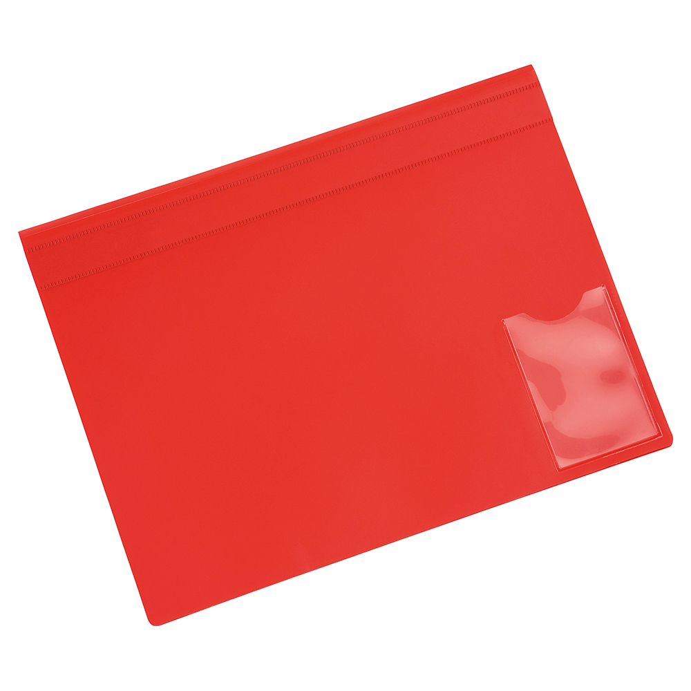 Business Executive File Flat Bar Semi Rigid Opaque Cover A4 Red (Pack of 5)