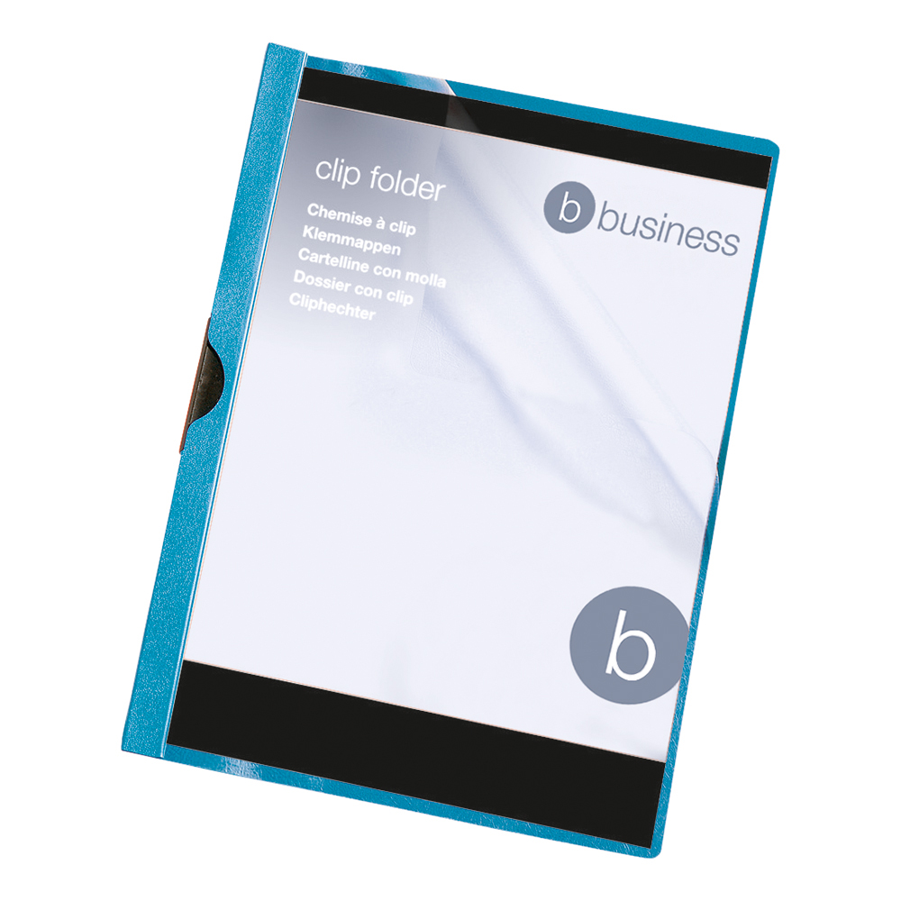 Business Clip Folder 3mm Capacity 30 Sheets A4 Blue (Pack of 25)