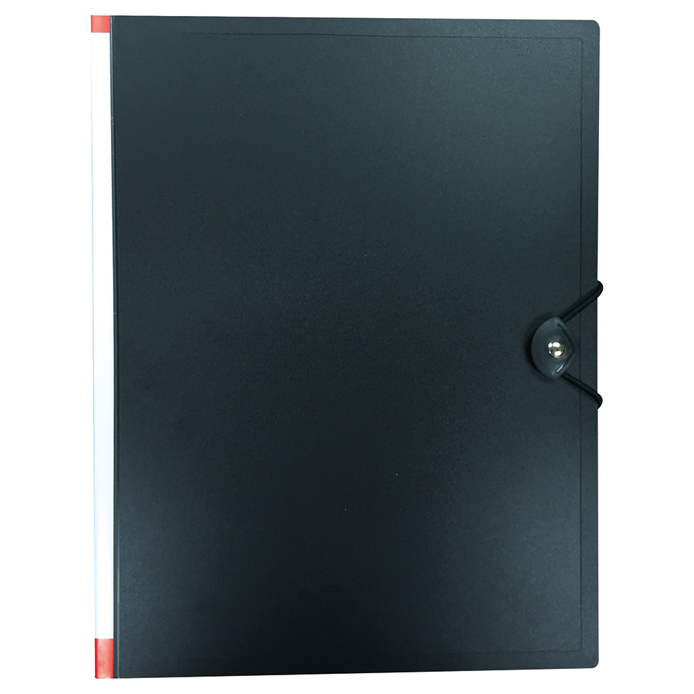 Business Black 24 Pocket Hardback Display Book