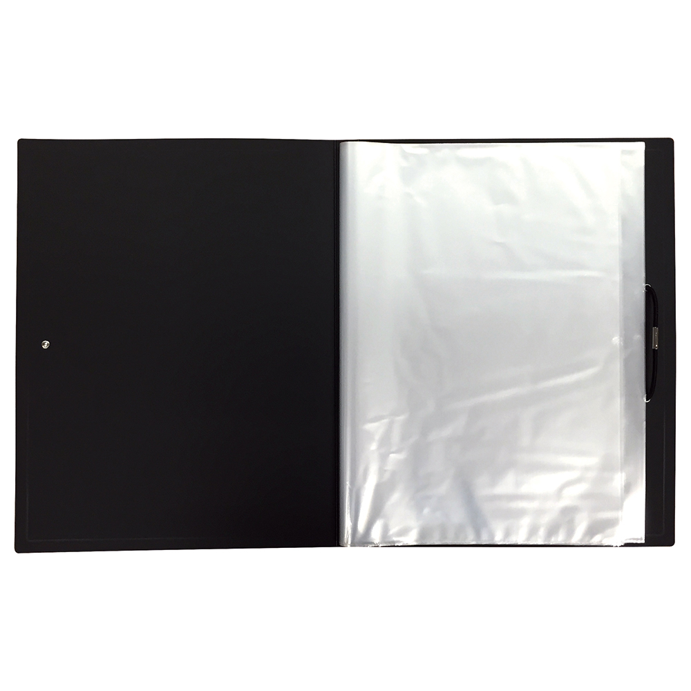 Business Display Book with Hardback Cover 24 Pockets A4 Black (Pack of 1)