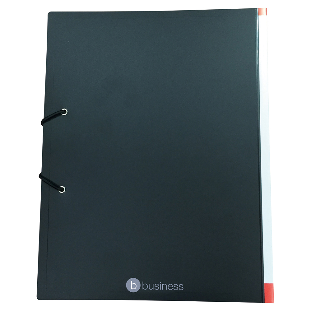 Business Display Book with Hardback Cover 36 Pockets A4 Black (Pack of 1)