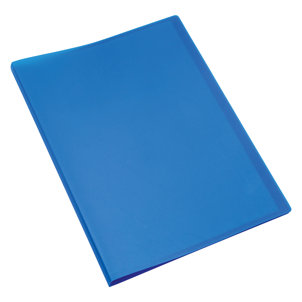 Business Display Book with Soft Cover 40 Pockets A4 Blue (Pack of 1)