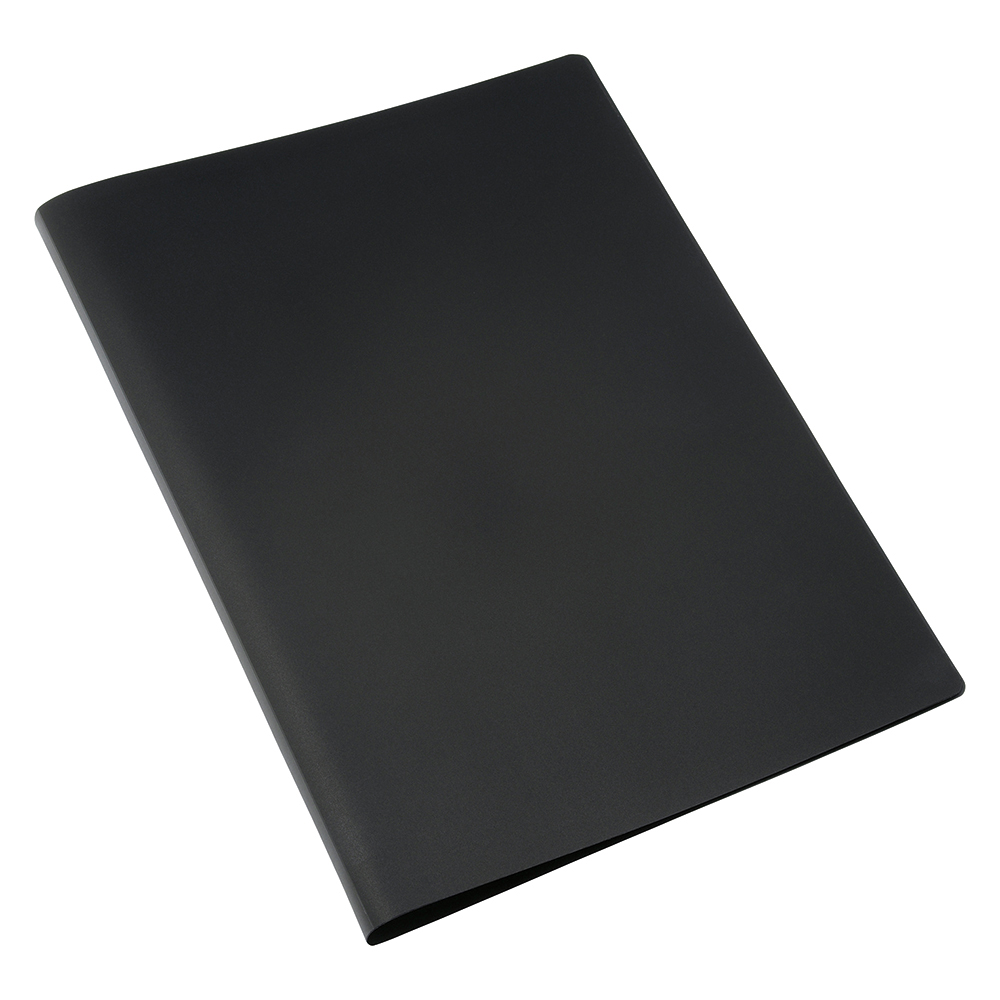 Business Display Book with Soft Cover 40 Pockets A4 Black (Pack of 1)