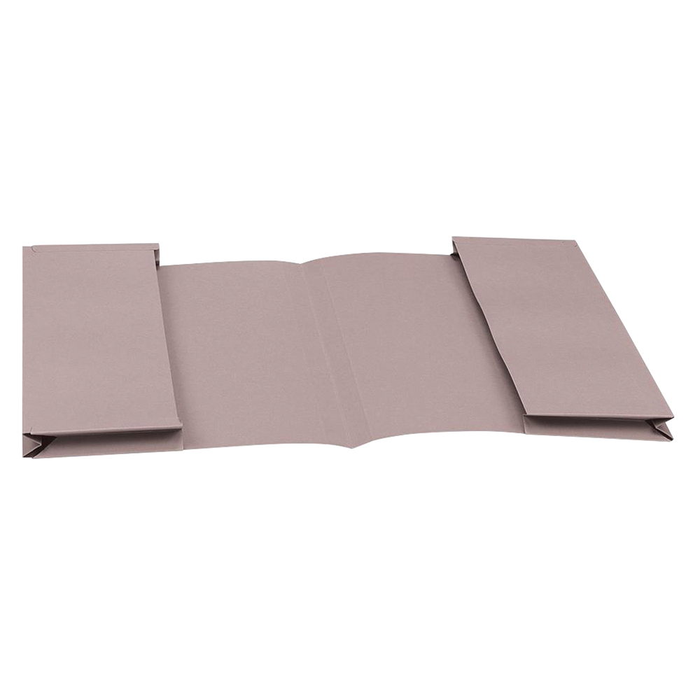 Business Eco Double Pocket Wallet 285gsm Foolscap Recycled Buff Pack 25