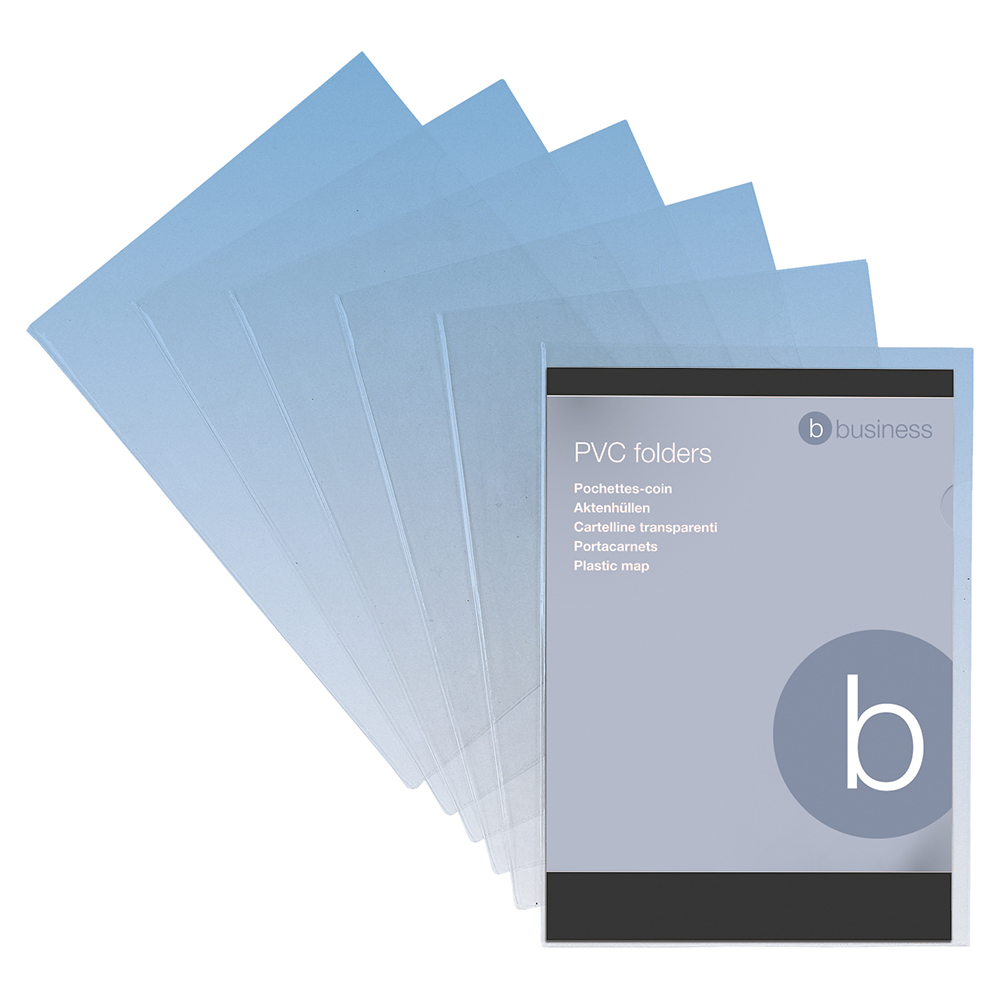 Business Premium Cut Flush Folder PVC 150 micron A4 Clear (Pack of 10)