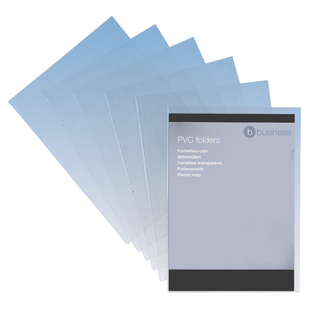 Business Premium Cut Flush Folder PVC 150 micron A4 Clear (Pack of 50)