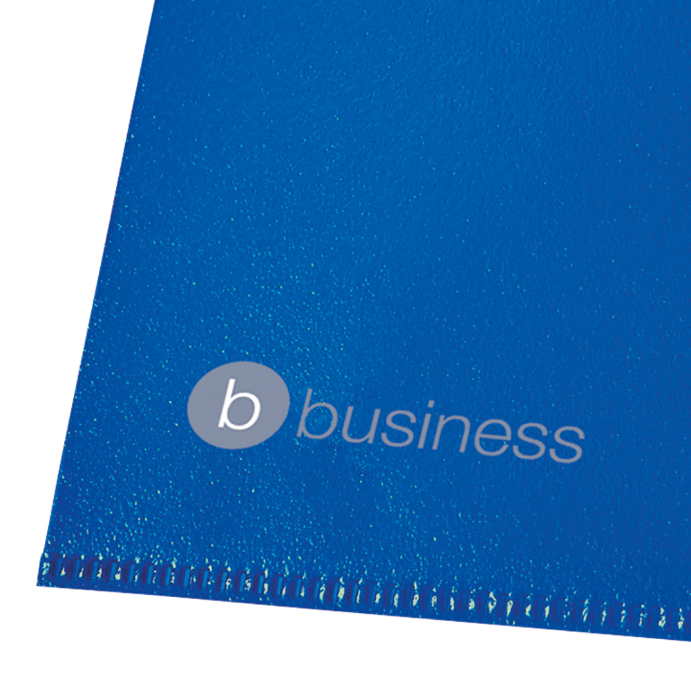 Business Cut Flush Folder Copy-Safe Polypropylene 120 micron A4 Translucent Blue (Pack of 25)