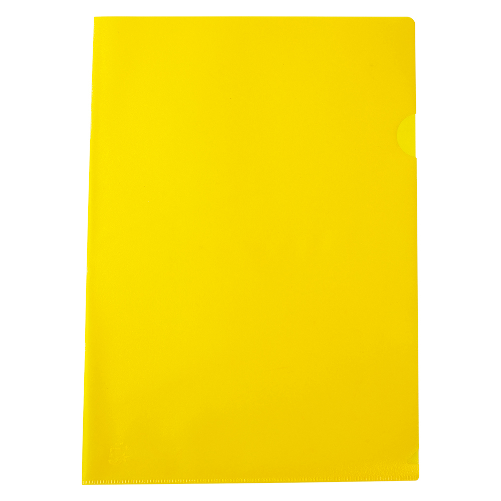 Business Cut Flush Folder Copy-Safe Polypropylene 120 micron A4 Translucent Yellow (Pack of 25)