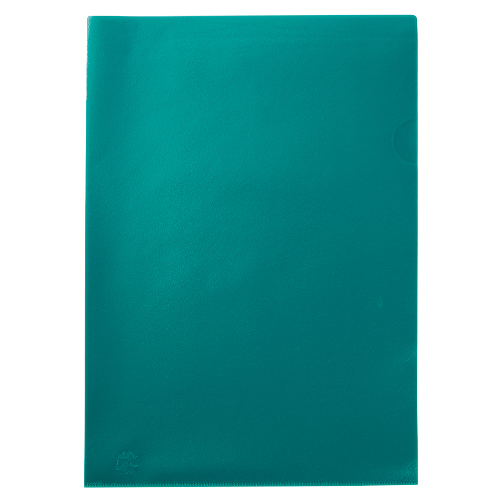 Business Office Folder Embossed Cut Flush Polypropylene Copy-safe Translucent 110 Micron A4 Green Pack 25