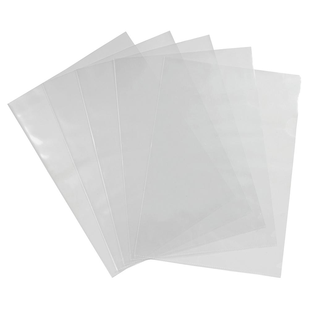 Business Cut Flush Folder Polypropylene 90 micron A4 Glass Clear (Pack of 100)