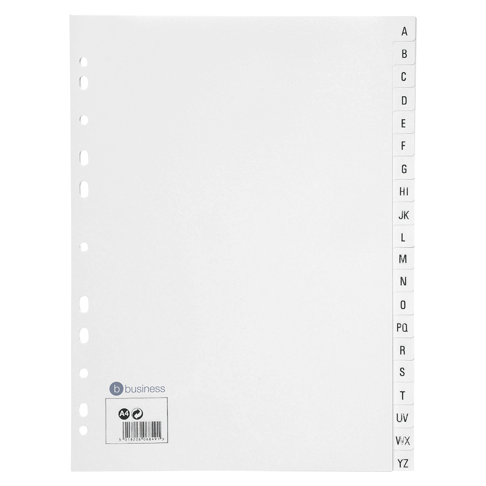 Business White A-Z A4 File Dividers