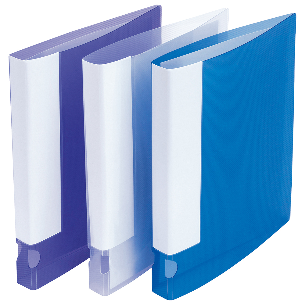 Business Assorted Colour Polypropylene 2 O-Ring A4 Ring Binders Pack of 10