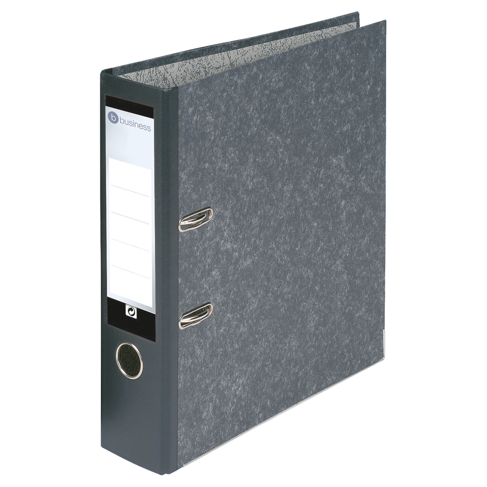 Business Office Lever Arch File 70mm A4 Cloudy Grey Pack 10