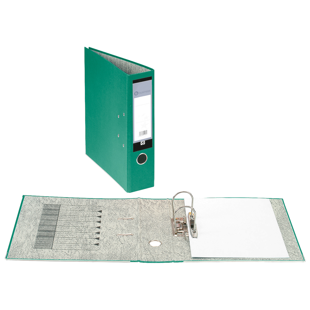Business Office Lever Arch File 70mm A4 Green Pack 10