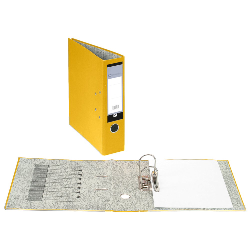 Business Office Lever Arch File 70mm A4 Yellow Pack 10
