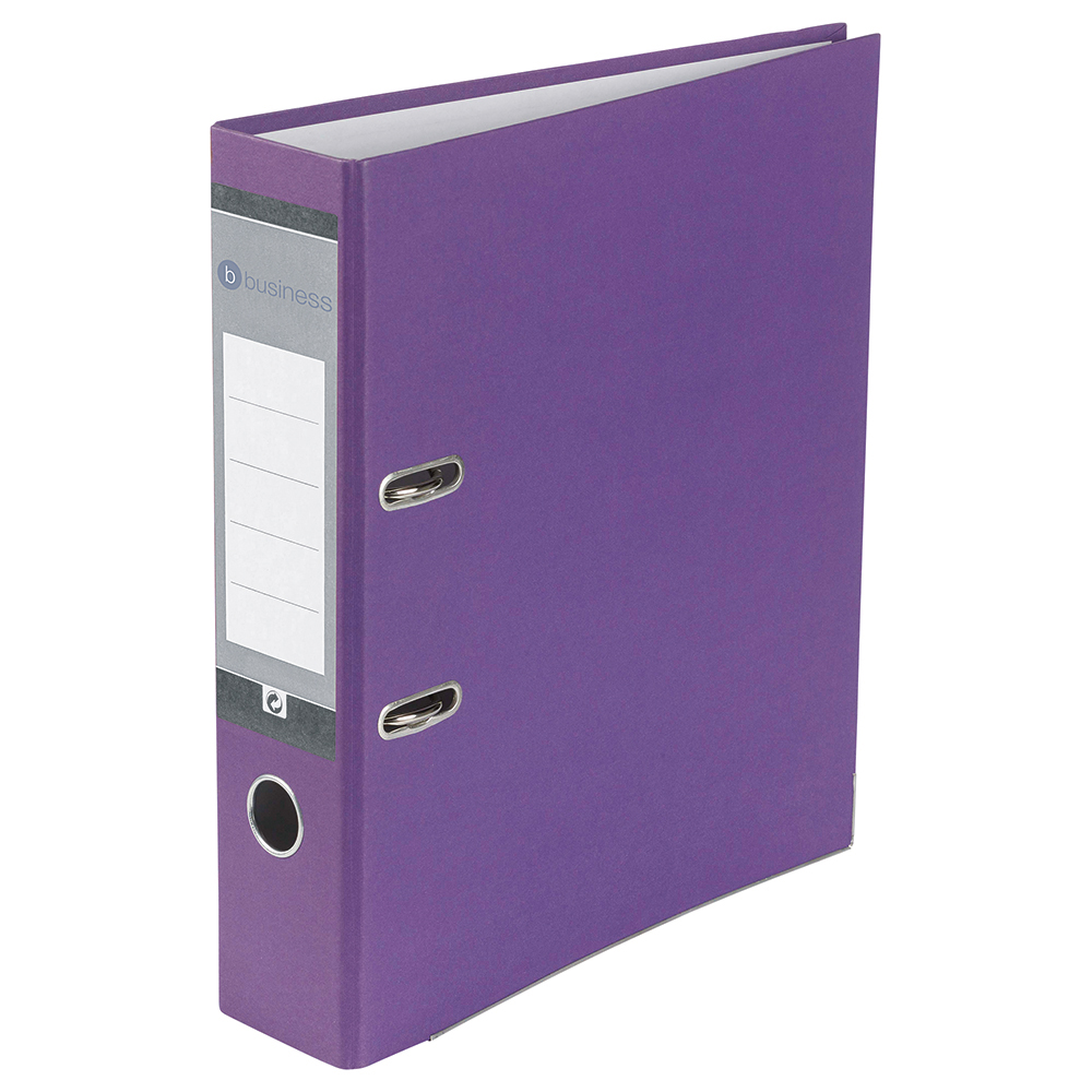 Business Office Lever Arch File 70mm A4 Purple Pack 10