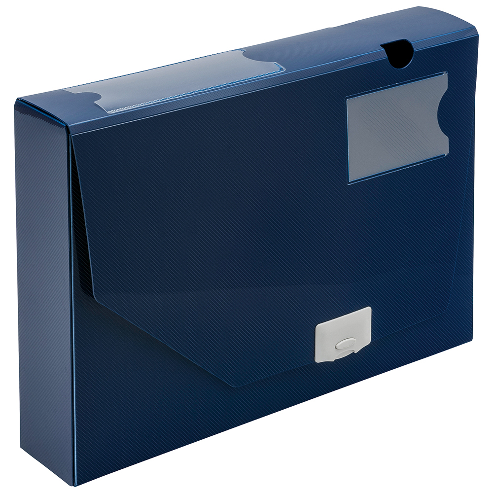 Business Blue Polypropylene 60mm A4 Document Boxes Pack of 10