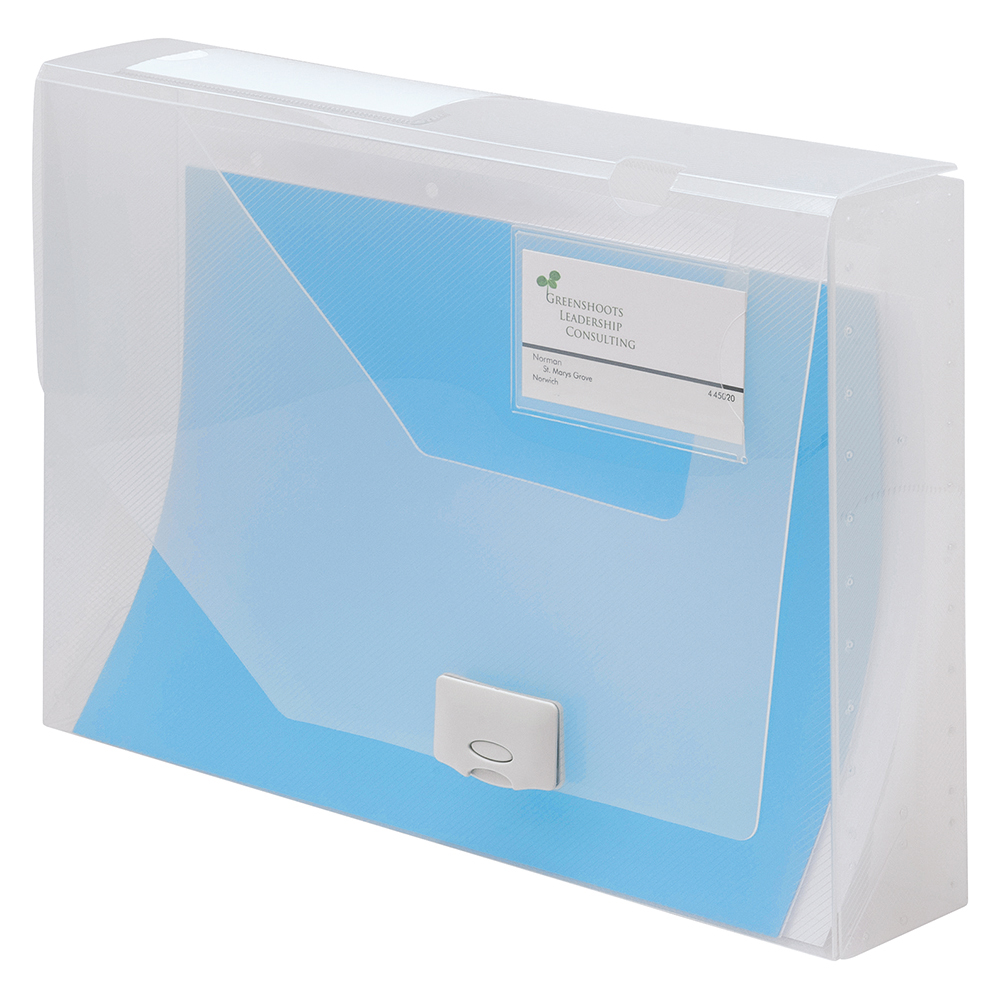 Business Document Box Polypropylene 60mm A4 Blue (Pack of 10)