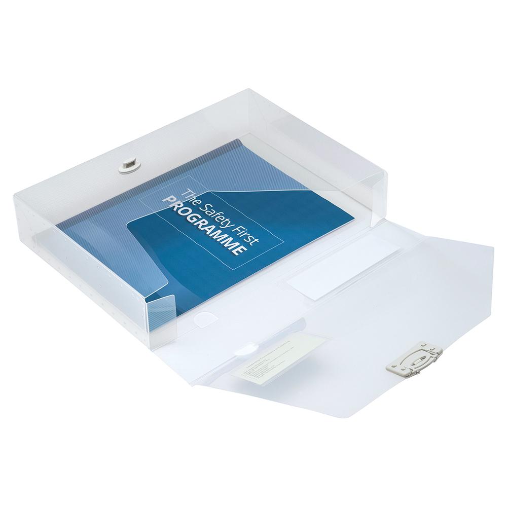 Business Document Box Polypropylene 60mm A4 Blue (Pack of 10)