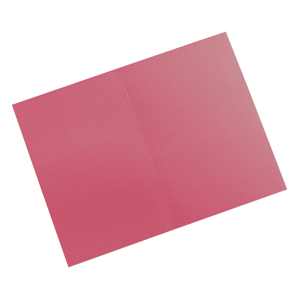 Business Elite Red 315gsm Foolscap Square Cut Folders Pack of 100