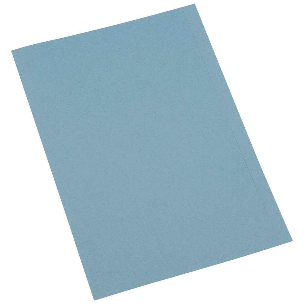 Business Blue 250gsm Recycled A4 Pre-Punched Square Cut Folders Pack of 100