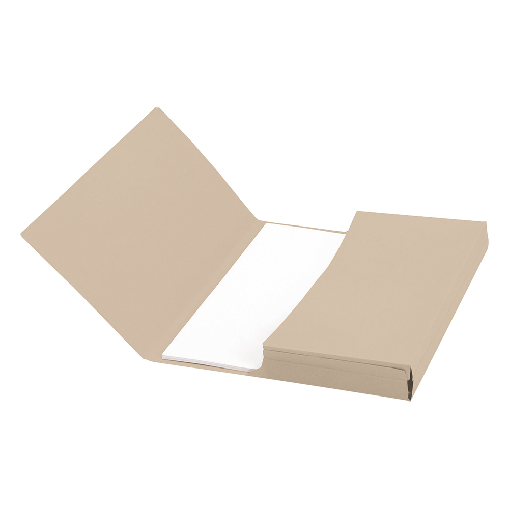 Business Document Wallet Half Flap Recycled Manilla 285gsm Capacity 32mm A4 Buff (Pack of 50)