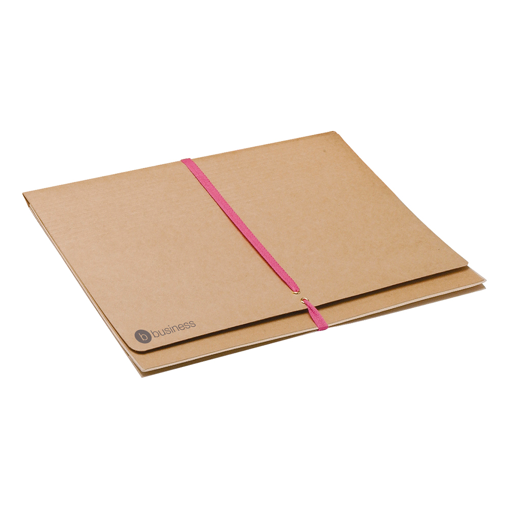 Business Legal Wallet with Tie Tape Capacity 51mm Foolscap Brown (Pack of 25)