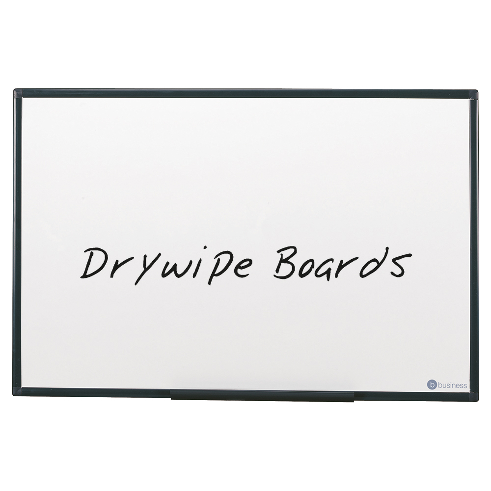 Business Lightweight Drywipe Board with Fixing Kit and Detachable Pen Tray 1800 x 1200 Graphite Grey Trim (Pack of 1)