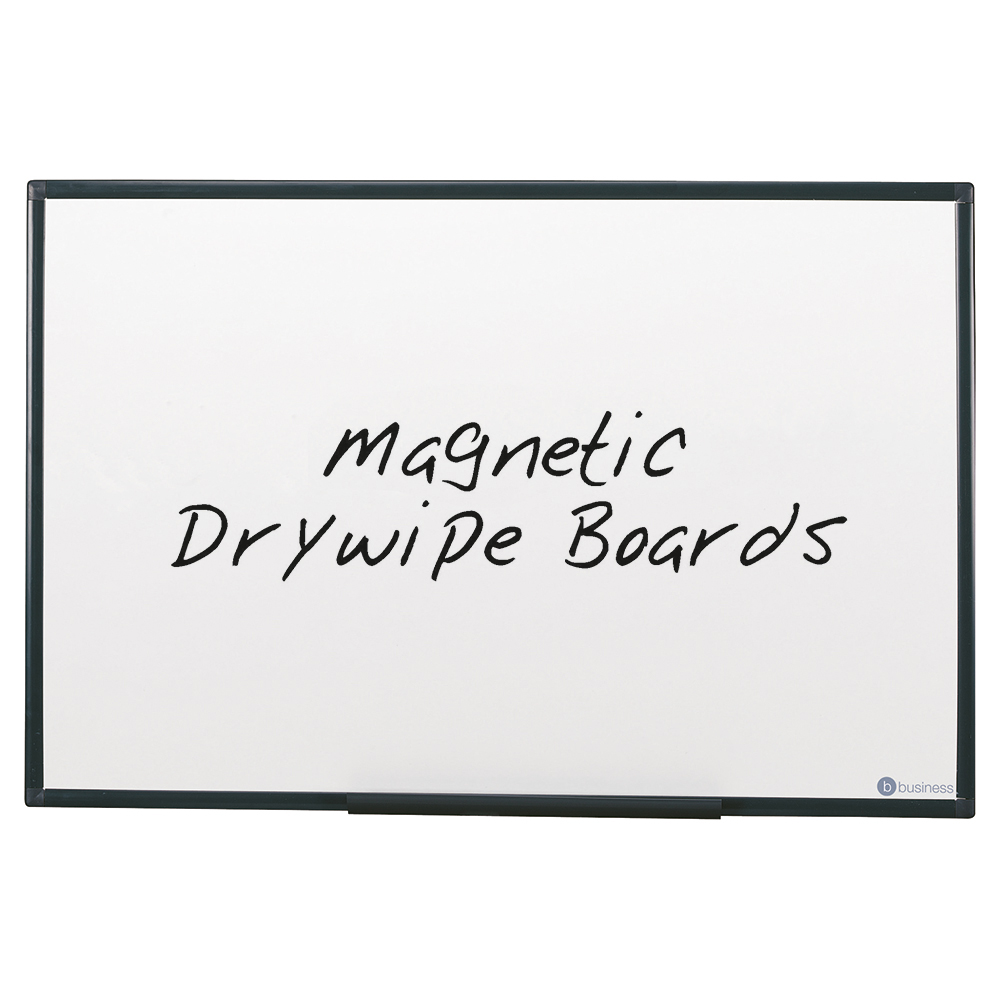 business Office Drywipe Board Magnetic Lightweight with Fixing Kit and Detachable Pen Tray W900xH600mm