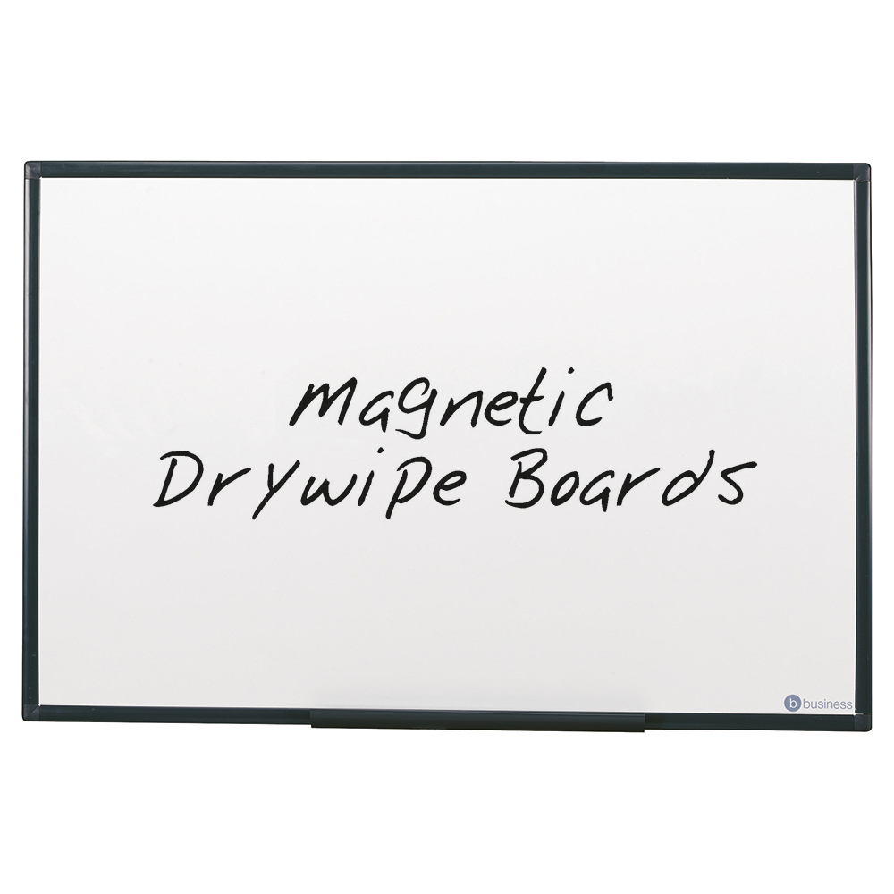 Business Lightweight Drywipe Magnetic Board with Fixing Kit and Detachable Pen Tray 1200 x 900mm (Pack of 1)