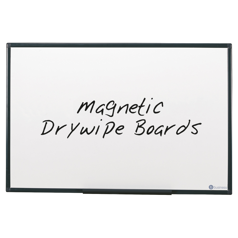 Business Lightweight Drywipe Magnetic Board with Fixing Kit and Detachable Pen Tray 1800 x 1200mm (Pack of 1)