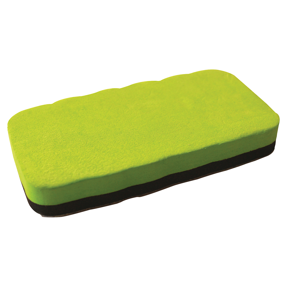 Business Premium Magnetic Drywipe Eraser Lime Green (Pack of 1)
